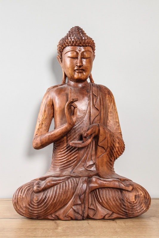 Buddha meditierend Suarholz 60 cm
