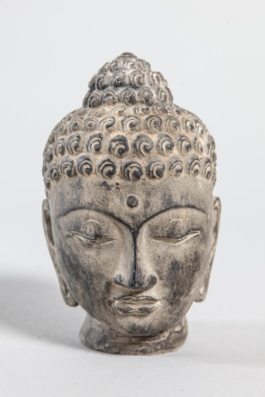 buddha kopf grau natur 12 cm online kaufen bei cachet cachet shop. Black Bedroom Furniture Sets. Home Design Ideas