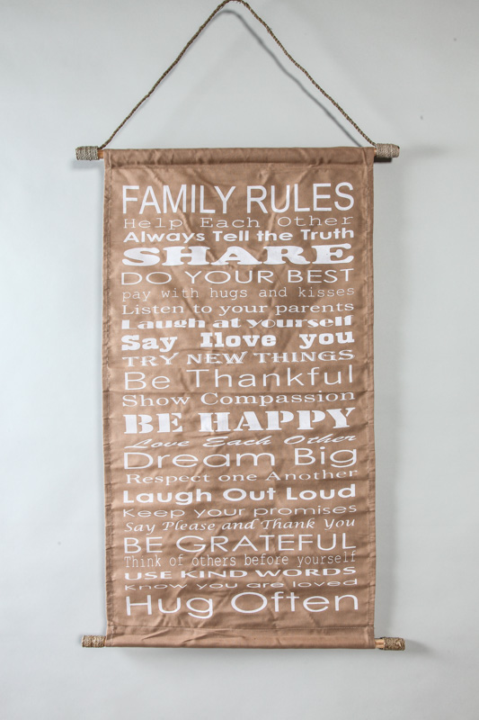 Family Rules Banner