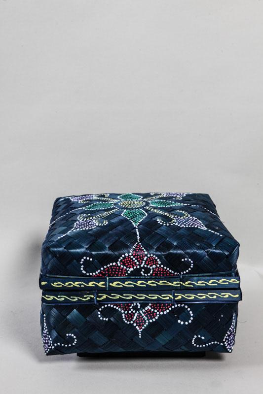 Bambuskorb Quadratisch Blau 24 Cm Online Kaufen Bei Cachet Cachet
