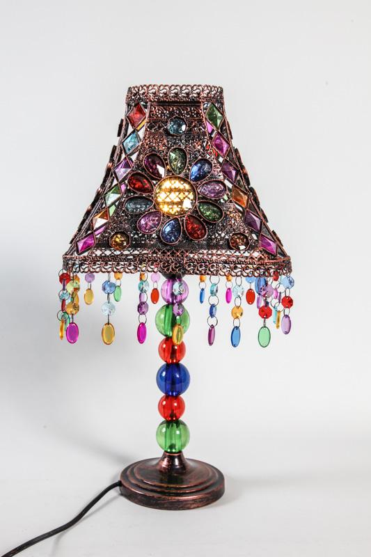 lampe kupferfarben blau 25 x 25 x 51 cm online kaufen bei. Black Bedroom Furniture Sets. Home Design Ideas