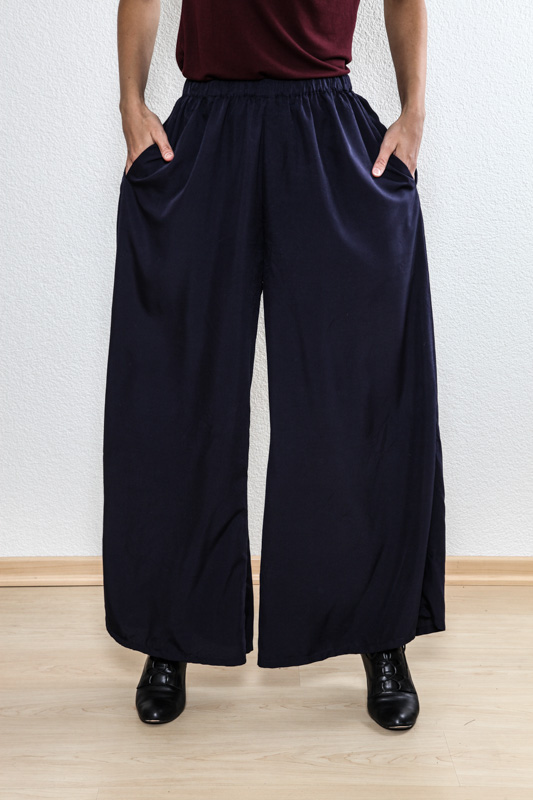 Hose Cupro navy one size