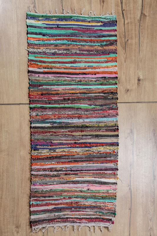 Teppich Bunt Gestreift 60 X 135 Cm Cachet Shop
