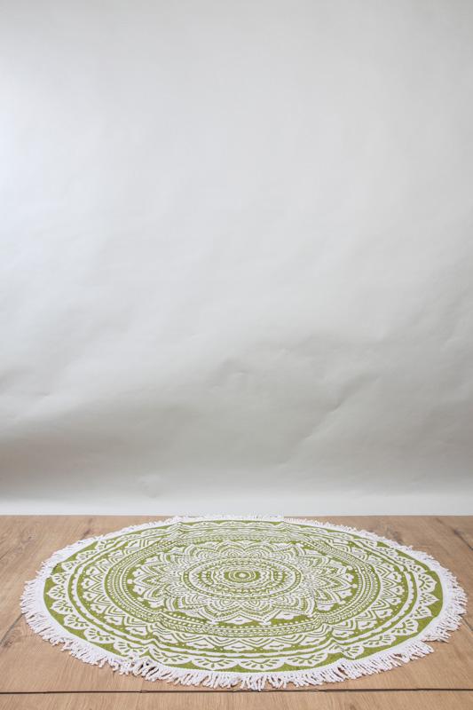 Teppich Rund Beige Grün 120 Cm Online Kaufen Bei Cachet Cachet Shop