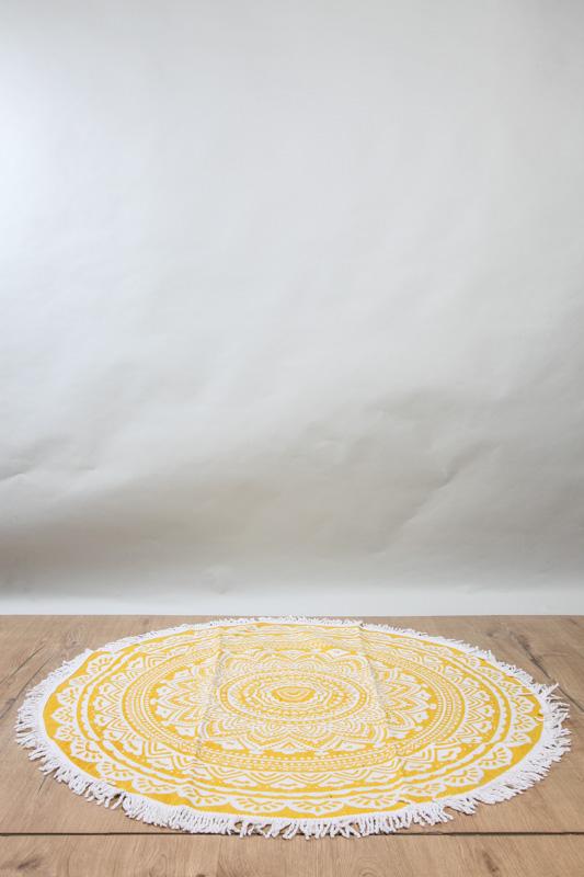 Teppich Rund Beige Gelb 120 Cm Online Kaufen Bei Cachet Cachet Shop