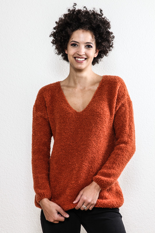Pullover orange - One Size