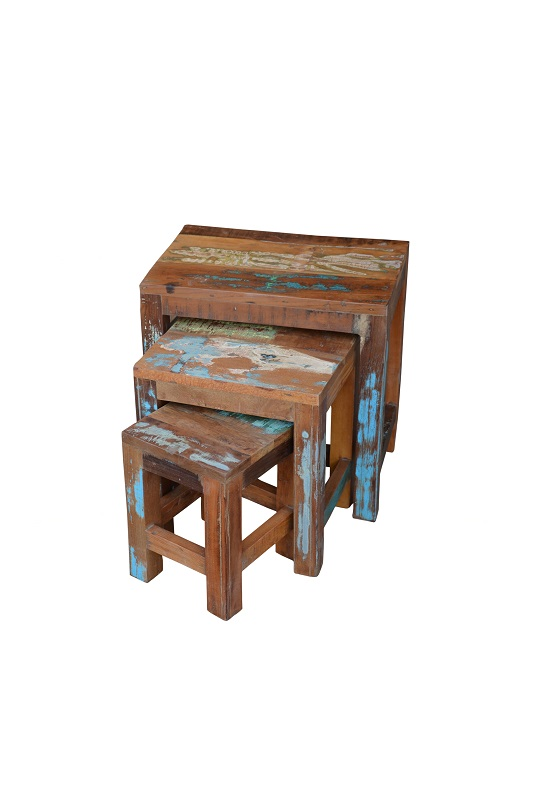 Hocker Mangoholz gross