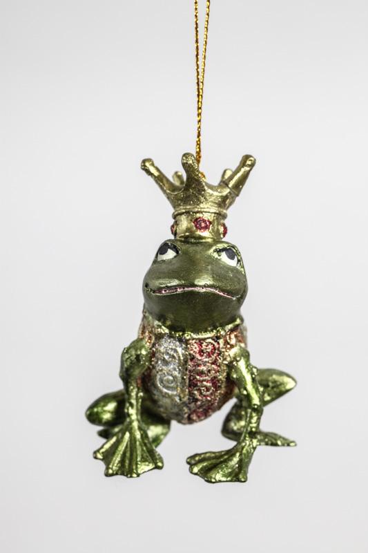 Froschkönig Dekoration silberfarben