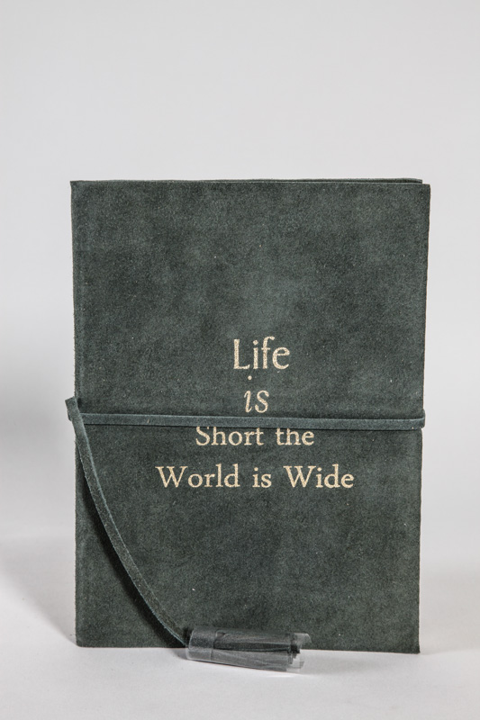 "Lederagenda ""Life is Short the World is Wide"" A5"