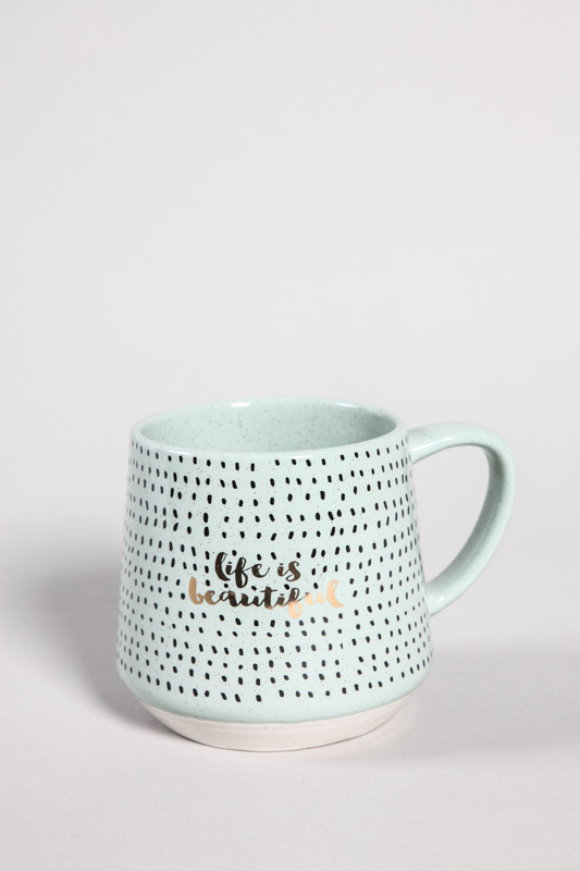 "Tasse "" life is beautiful"""