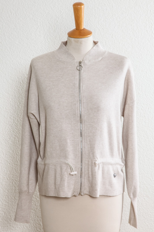 cheap for discount 46941 7c1b3 Strickjacke kurz beige - One Size - Cachet Shop.