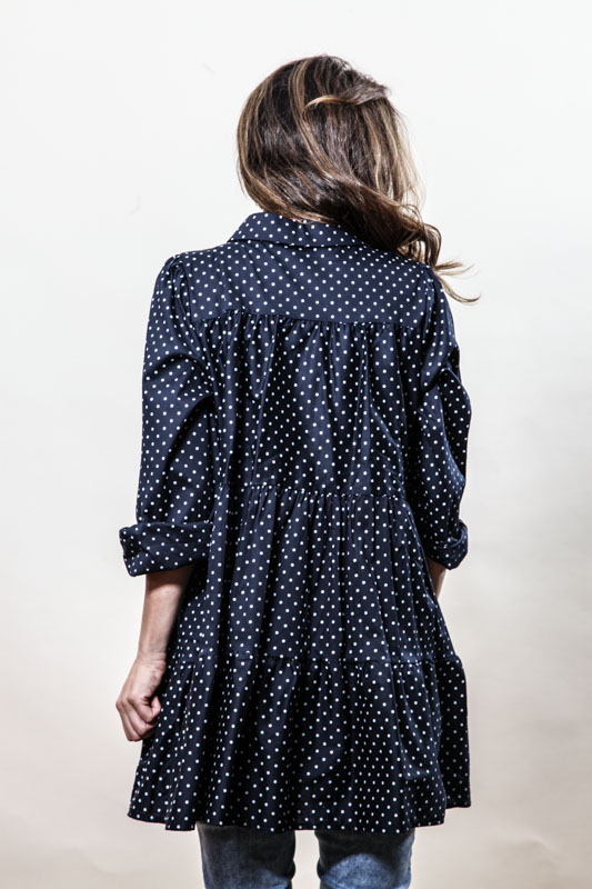 Kleid dunkelblau mit Punkten - One Size online kaufen bei ...
